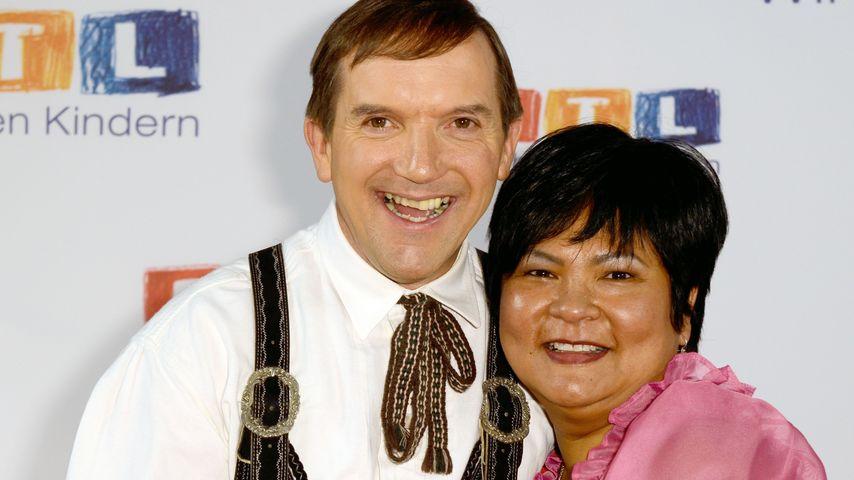 Bauer Josef und Narumol beim RTL-Spendenmarathon