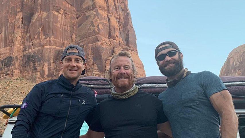 Bear Grylls und seine Kollegen, rechts Joshua Valentine
