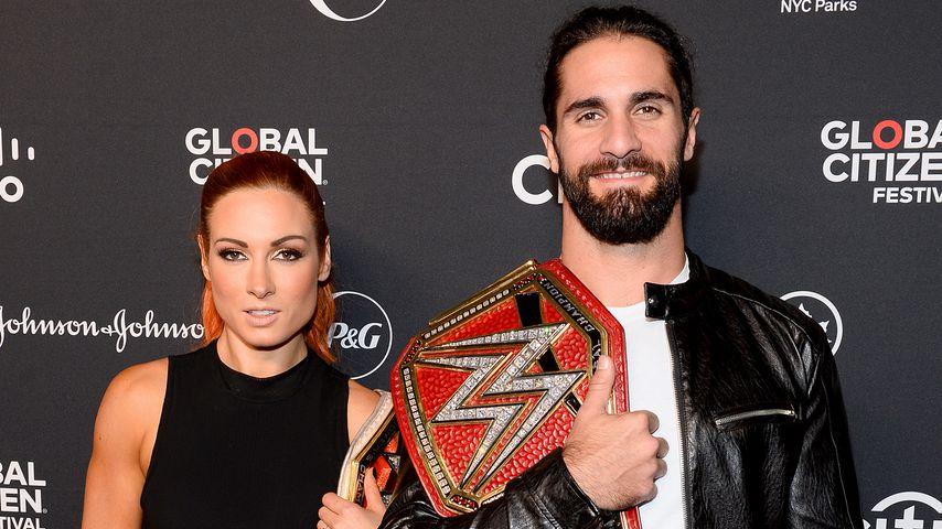 Becky Lynch und Seth Rollins