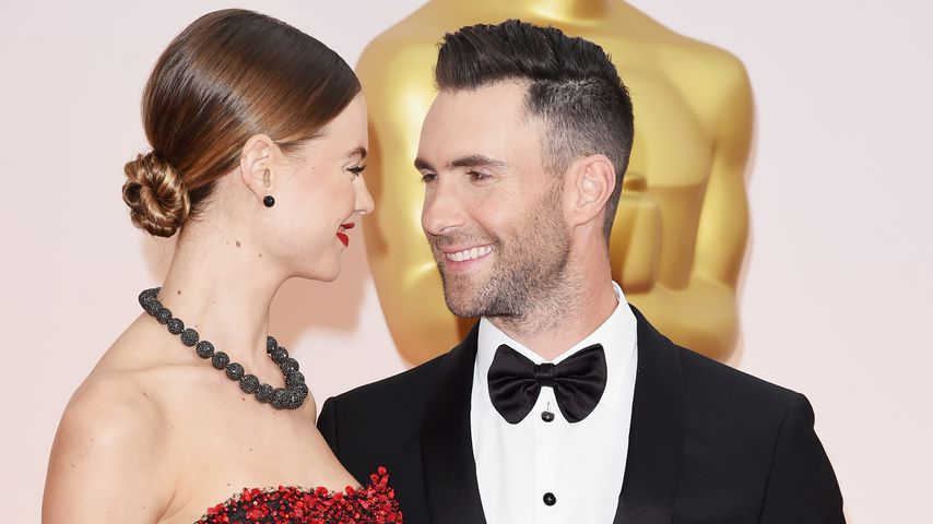 Behati Prinsloo und Adam Levine bei den Oscars 2015 in Hollywood