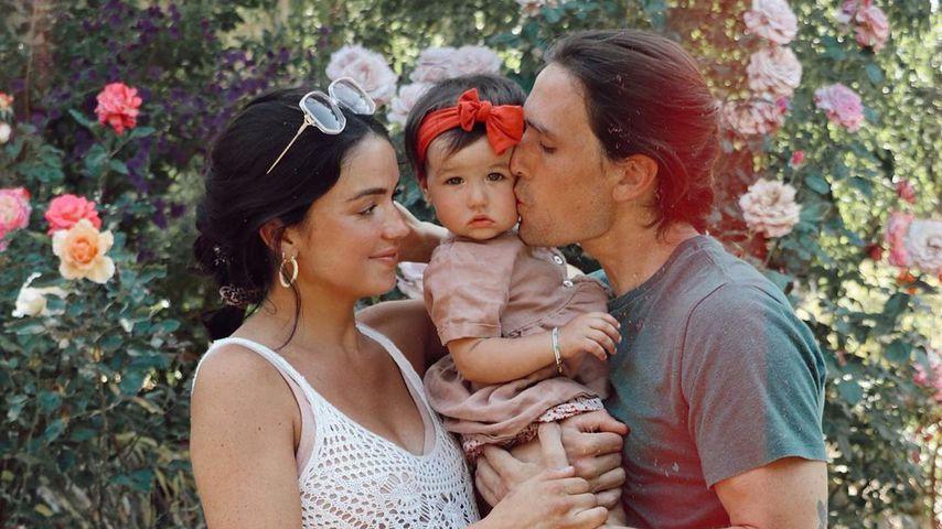 Bekah Martinez mit ihrem Freund und der gemeinsamen Tochter, Mai 2020