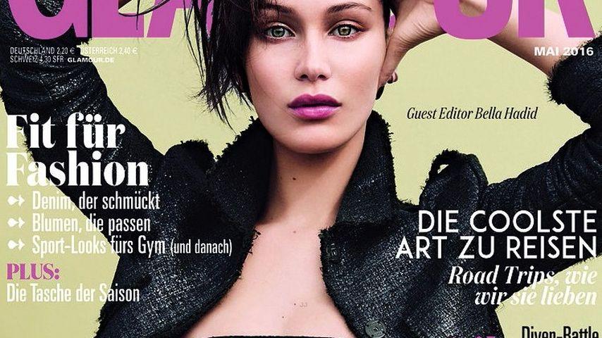 """Wow! Bella Hadid zeigt viel Haut auf der deutschen """"Glamour"""""""