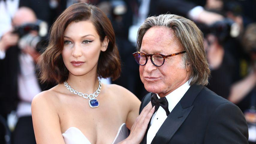 Model Bella Hadid mit ihrem Vater Mohamed in Cannes 2017