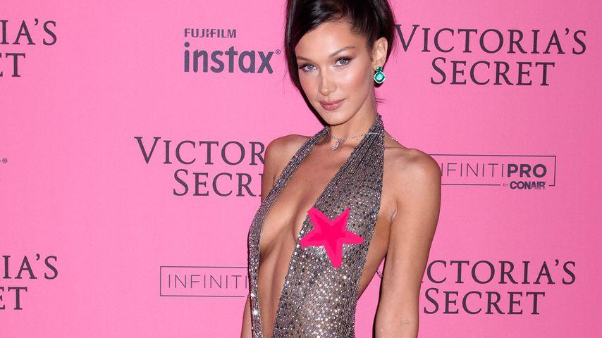 After-Show-Party: VS-Model Bella Hadid BH-los auf Red Carpet