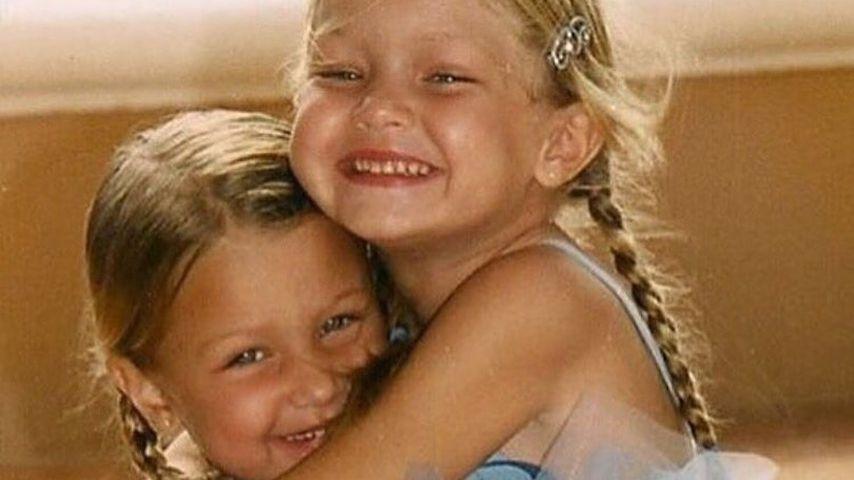 Bella und Gigi Hadid in Kindertagen
