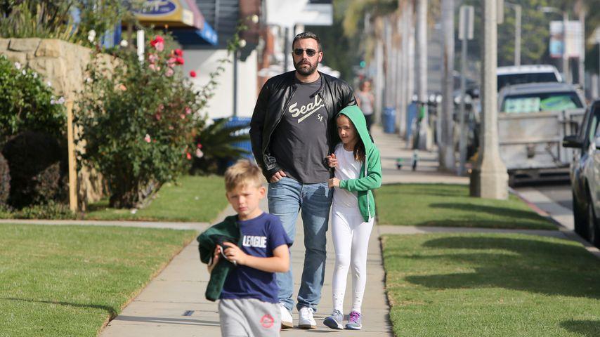 Ben Affleck mit seinen Kindern Seraphina und Samuel