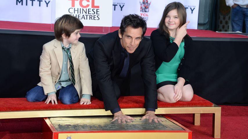 Ben Stiller und seine Kinder, Dezember 2013
