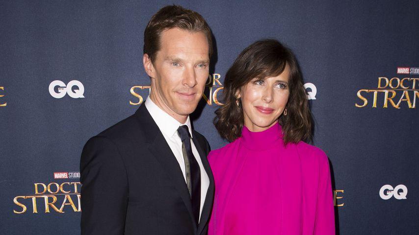 Benedict Cumberbatchs Frau verhüllt: Wo ist die Baby-Kugel?