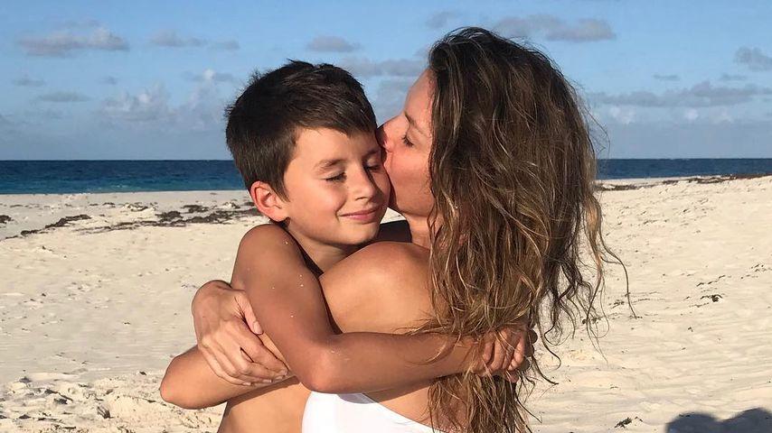 Süßes Duo: Gisele Bündchen knuddelt Sohn ganz fest zum B-Day