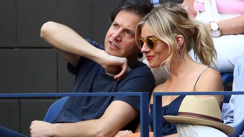 Benett Miller und Sienna Miller bei den US Open 2016 in New York