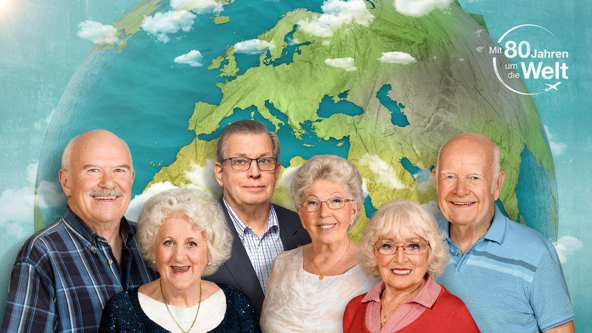 """""""Mit 80 Jahren um die Welt""""-Kandidaten Bernd, Christina, Lothar, Marianne, Erika und Norbert"""