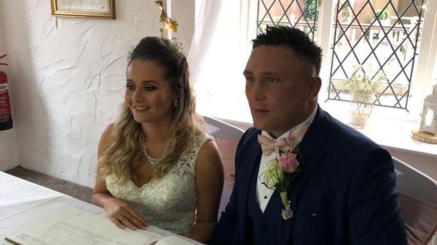 Bethan und Gerwyn Price an ihrem Hochzeitstag