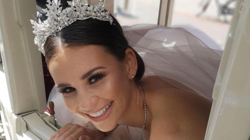 Betty Taube am Tag ihrer Hochzeit