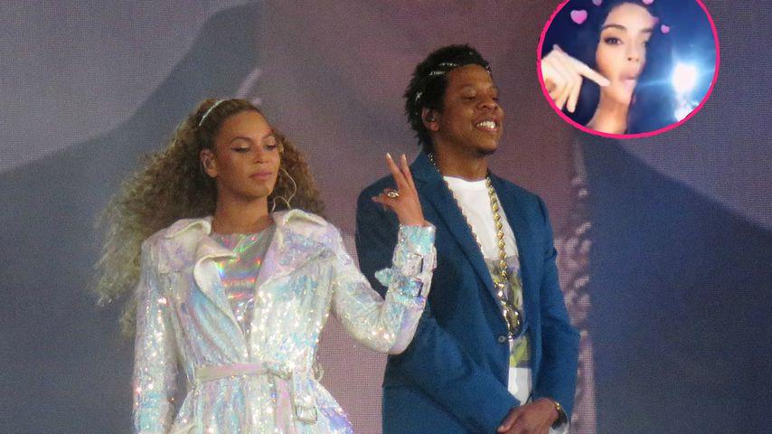 Wieder versöhnt? Kim K. feiert bei Show von Beyoncé & Jay-Z