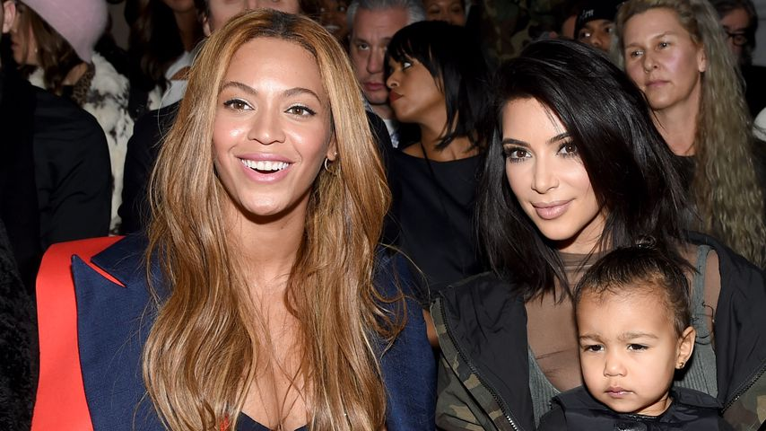 Beyoncé, Kim Kardashian und Töchterchen North West bei der New York Fashion Week 2015