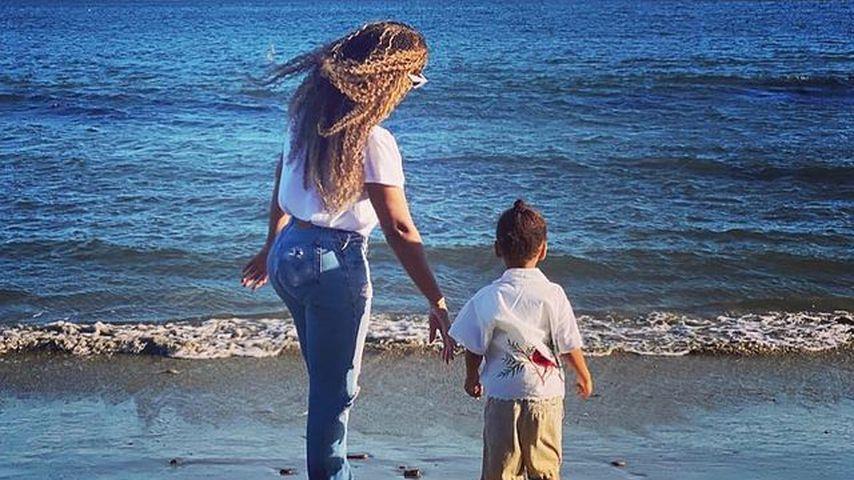 Beyoncé Knowles mit ihrem Sohn Sir