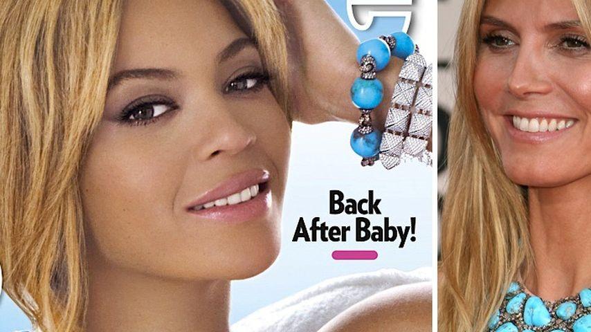 Ausgeliehen? Beyoncé trägt Heidi Klums Kette