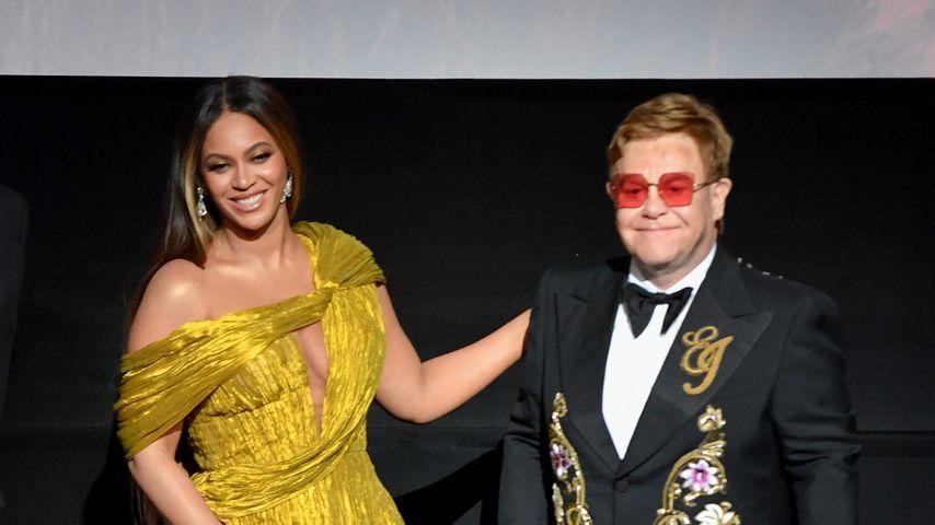 """Beyoncé und Elton John bei der Premiere von """"König der Löwen"""""""