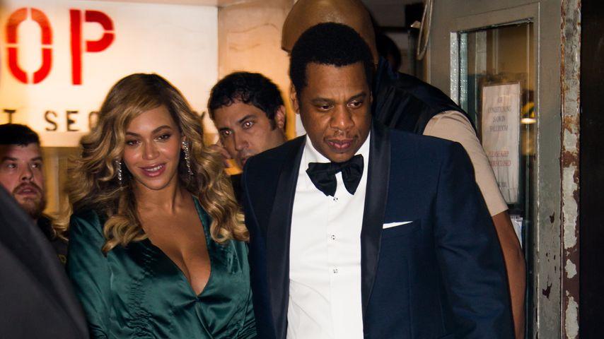 Beyoncé und Jay-Z beim Verlassen des Diamond Balls