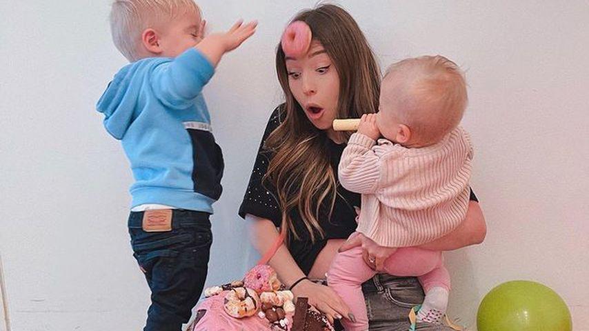 Bibi Claßen mit ihren Kids Lio und Emily
