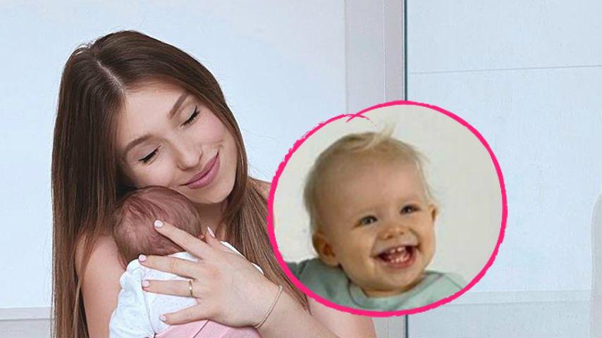 Mama Bibi happy: Söhnchen Lio ganz vernarrt in Baby Emily