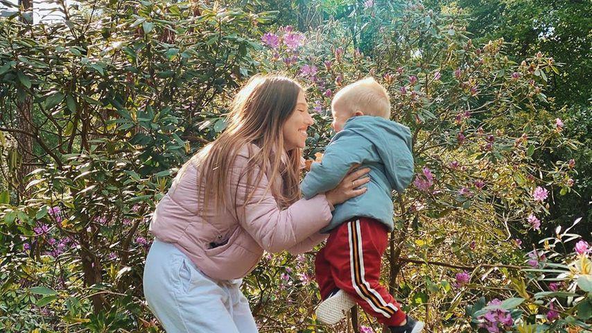Bibi Claßen mit ihrem Sohn Lio