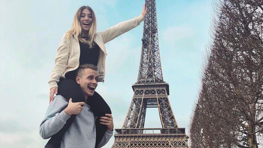 Bibi Heinicke mit ihrem Freund Julian in Paris