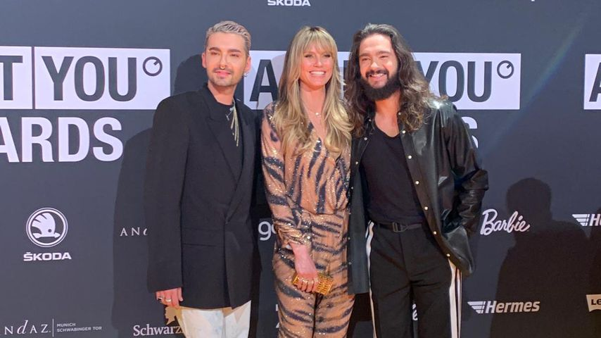 Bill Kaulitz, Heidi Klum und Tom Kaulitz bei den ABOUT YOU Awards