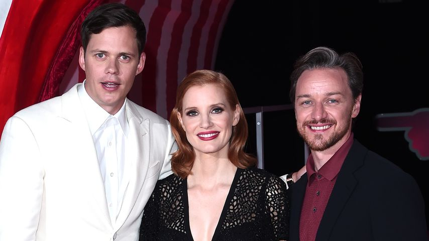 "Bill Skarsgård, Jessica Chastain und James McAvoy bei der Premiere von ""Es 2"" in London"