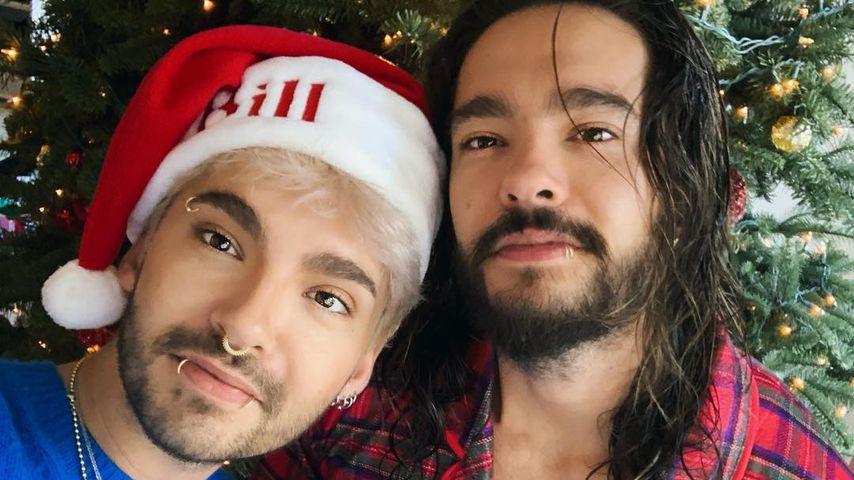 Bill und Tom Kaulitz an Weihnachten 2018