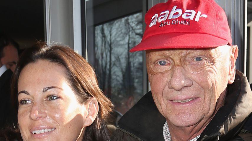Birgit und Niki Lauda im Januar 2013