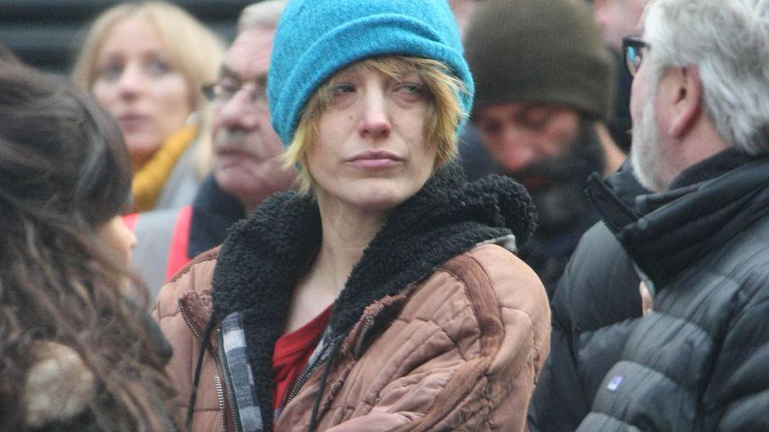 Schauspielerin Blake Lively an einem Filmset in Dublin