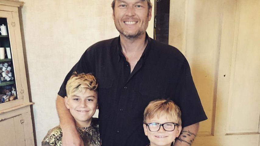 Blake Shelton mit Kingston und Zuma
