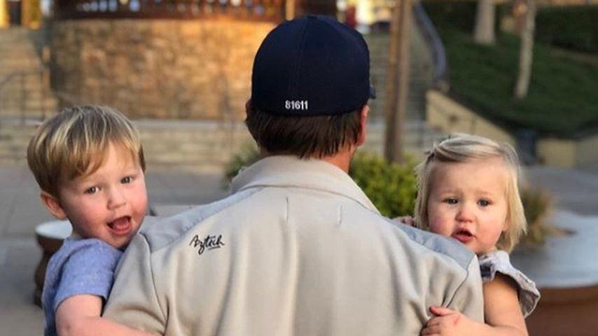 Bode Miller mit seinem Sohn und seiner Tochter