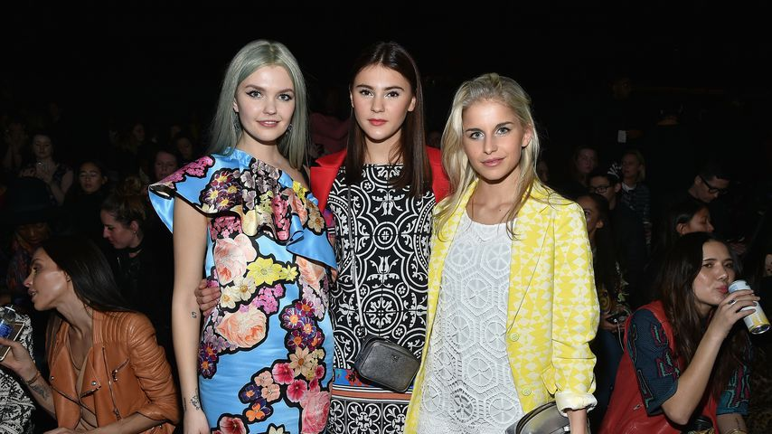 Bonnie Strange, Stefanie Giesinger und Caro Daur 2016 auf der New Yorker Fashion Week
