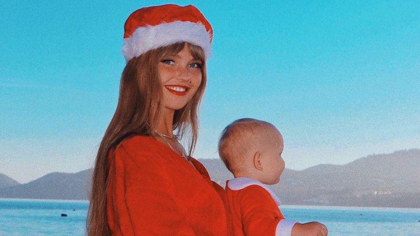 Bonnie Strange mit ihrer Tochter Goldie, Dezember 2019