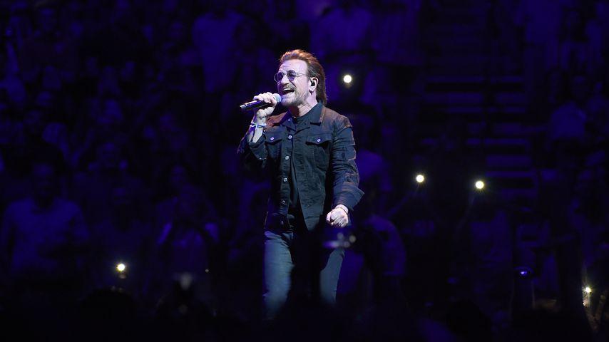 Bono bei einem Konzert im Mai 2018