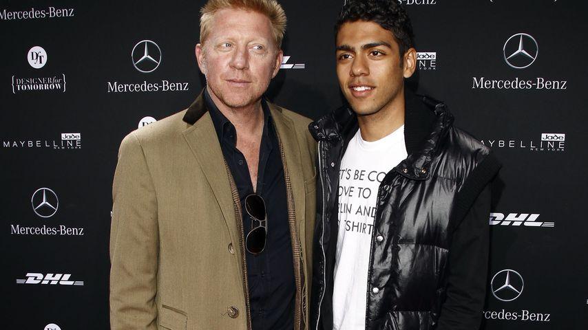 Boris Becker und sein Sohn Noah Becker auf der Mercedes-Benz Fashion Week