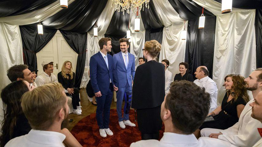 """Boris Saalfeld (Florian Frowein) und Tobias Ehrlinger (Max Beier) bei """"Sturm der Liebe"""""""