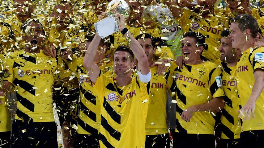 Borussia Dortmund beim Gewinn des Supercup