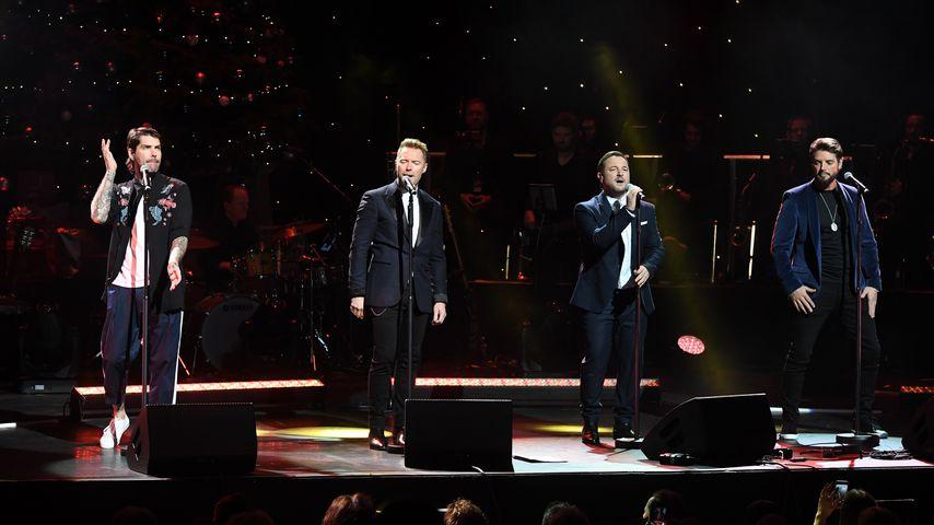 Boyzone während eines Auftritts in London, 2018