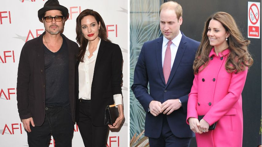 Brad & Angelina: Royaler Nachmittag mit Prinz William & Kate