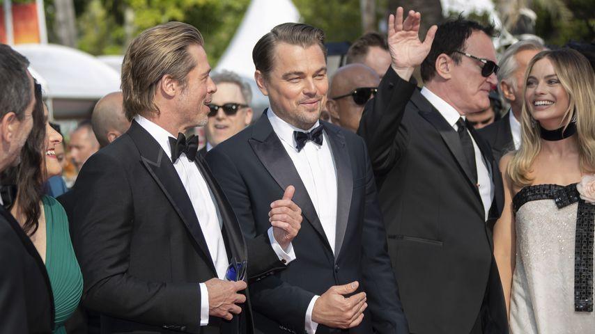 Brad Pitt, Leonardo DiCaprio, Quentin Tarantino und Margot Robbie, 2019 in Cannes