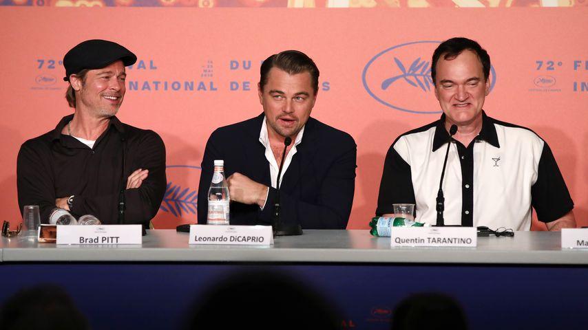 Brad Pitt, Leonardo DiCaprio und Quentin Tarantino auf den Filmfestspielen in Cannes