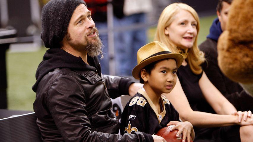 Brad Pitt und Maddox im Jahr 2010