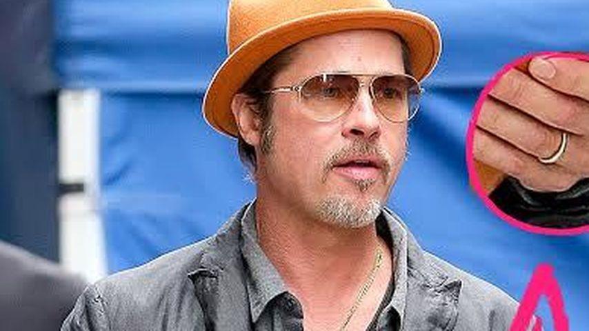 Zum 1. Mal: Brad Pitt zeigt seinen Ehering!