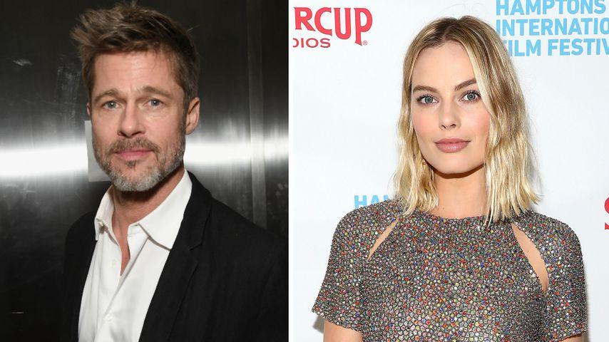 Bei Dreharbeiten: Was läuft bei Brad Pitt & Margot Robbie?
