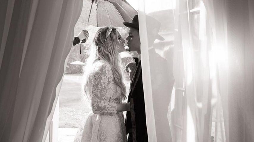 Ashlee Simpson als Braut: Evan Ross zeigt Hochzeits-Pics