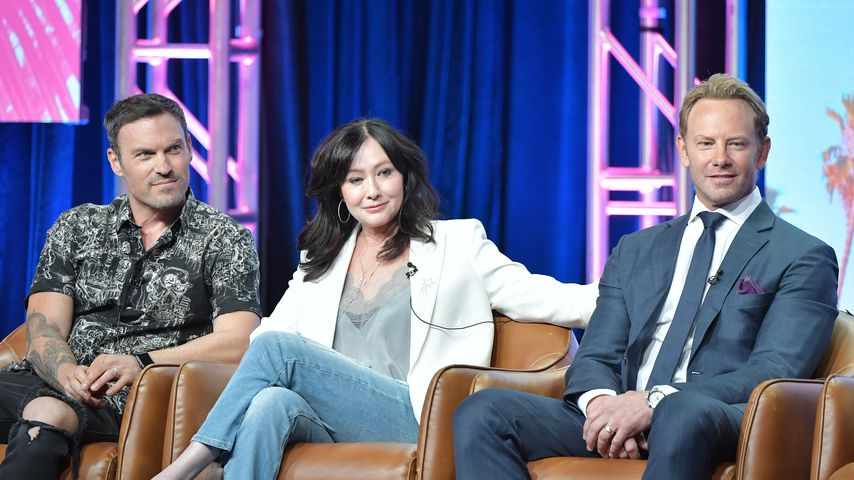 Brian Austin Green, Shannen Doherty und Ian Ziering bei der Summer TCA Press Tour, 2019