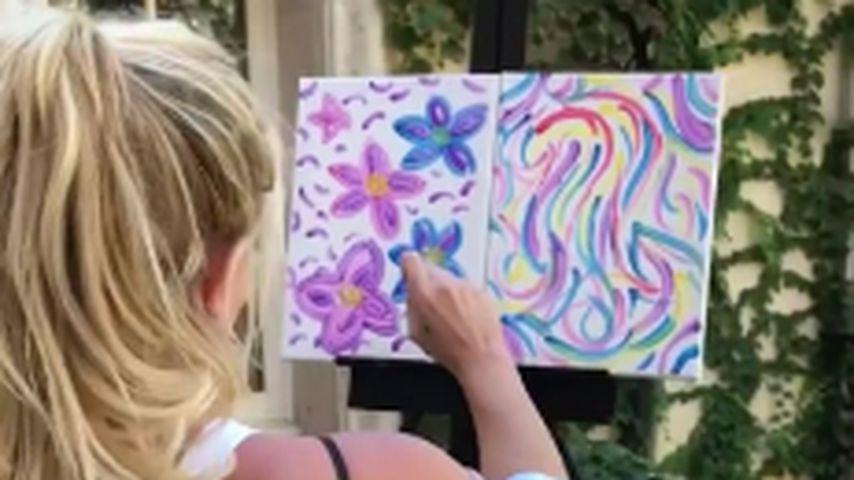 """Blumen-Bild: Britney versteigert """"Kunst"""" für Las-Vegas-Opfer"""